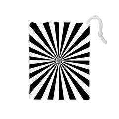 Rays Stripes Ray Laser Background Drawstring Pouches (medium)