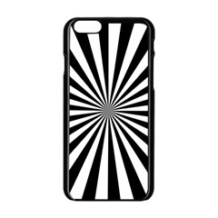 Rays Stripes Ray Laser Background Apple Iphone 6/6s Black Enamel Case