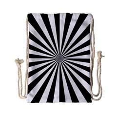 Rays Stripes Ray Laser Background Drawstring Bag (small)