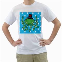 Octopus Sea Animal Ocean Marine Men s T Shirt (white) (two Sided)