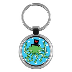 Octopus Sea Animal Ocean Marine Key Chains (round)  by Nexatart