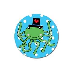 Octopus Sea Animal Ocean Marine Magnet 3  (round)