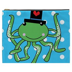Octopus Sea Animal Ocean Marine Cosmetic Bag (xxxl)  by Nexatart