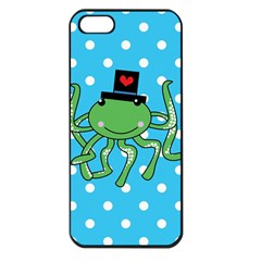 Octopus Sea Animal Ocean Marine Apple Iphone 5 Seamless Case (black) by Nexatart