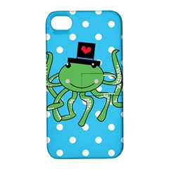 Octopus Sea Animal Ocean Marine Apple Iphone 4/4s Hardshell Case With Stand by Nexatart
