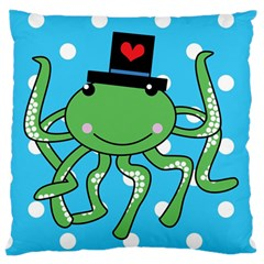 Octopus Sea Animal Ocean Marine Large Flano Cushion Case (two Sides)