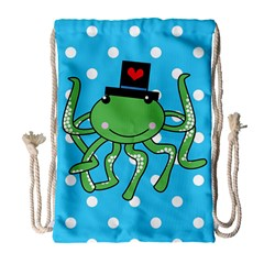 Octopus Sea Animal Ocean Marine Drawstring Bag (large)