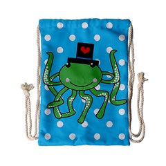 Octopus Sea Animal Ocean Marine Drawstring Bag (small)