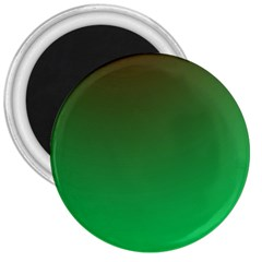 Course Colorful Pattern Abstract Green 3  Magnets by Nexatart