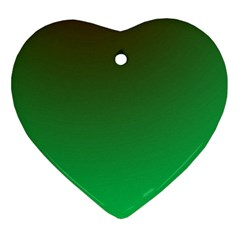 Course Colorful Pattern Abstract Green Ornament (heart)