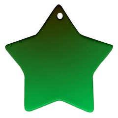 Course Colorful Pattern Abstract Green Ornament (star)