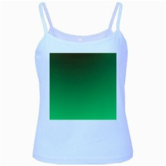 Course Colorful Pattern Abstract Green Baby Blue Spaghetti Tank