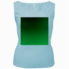Course Colorful Pattern Abstract Green Women s Baby Blue Tank Top by Nexatart