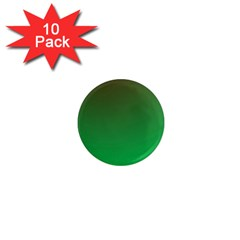 Course Colorful Pattern Abstract Green 1  Mini Magnet (10 Pack)