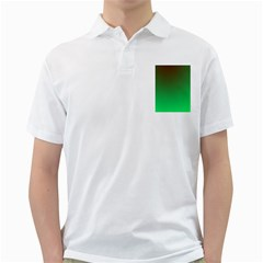 Course Colorful Pattern Abstract Green Golf Shirts