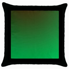 Course Colorful Pattern Abstract Green Throw Pillow Case (black)