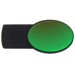 Course Colorful Pattern Abstract Green Usb Flash Drive Oval (2 Gb)