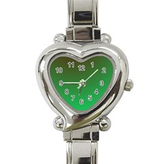Course Colorful Pattern Abstract Green Heart Italian Charm Watch