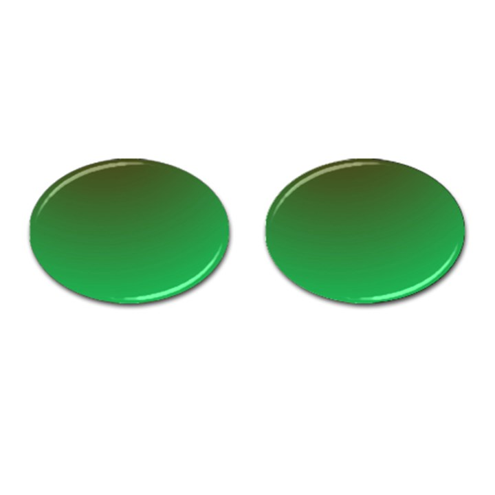 Course Colorful Pattern Abstract Green Cufflinks (Oval)