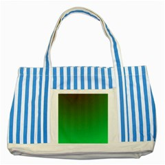 Course Colorful Pattern Abstract Green Striped Blue Tote Bag