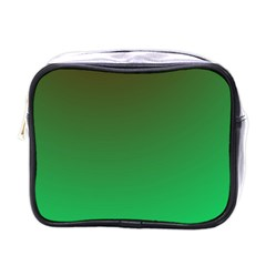 Course Colorful Pattern Abstract Green Mini Toiletries Bags by Nexatart