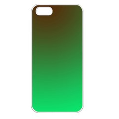 Course Colorful Pattern Abstract Green Apple Iphone 5 Seamless Case (white)