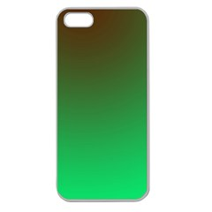 Course Colorful Pattern Abstract Green Apple Seamless Iphone 5 Case (clear)