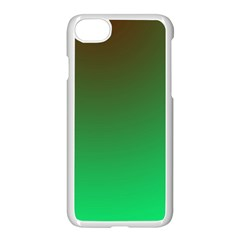 Course Colorful Pattern Abstract Green Apple Iphone 7 Seamless Case (white)