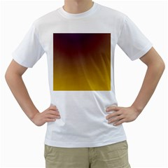 Course Colorful Pattern Abstract Men s T Shirt (white) (two Sided)