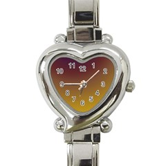 Course Colorful Pattern Abstract Heart Italian Charm Watch