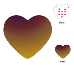Course Colorful Pattern Abstract Playing Cards (heart)
