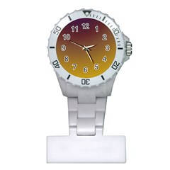 Course Colorful Pattern Abstract Plastic Nurses Watch by Nexatart