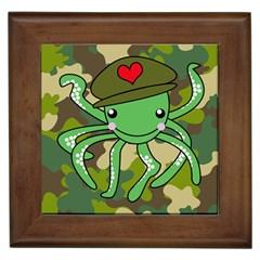 Octopus Army Ocean Marine Sea Framed Tiles