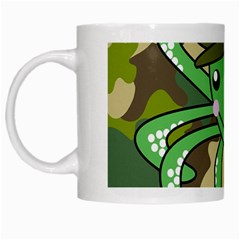 Octopus Army Ocean Marine Sea White Mugs by Nexatart
