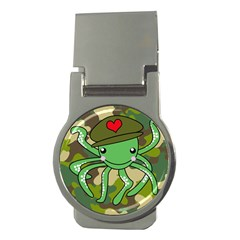Octopus Army Ocean Marine Sea Money Clips (round)