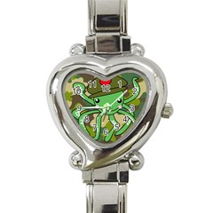 Octopus Army Ocean Marine Sea Heart Italian Charm Watch