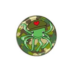 Octopus Army Ocean Marine Sea Hat Clip Ball Marker (4 Pack)