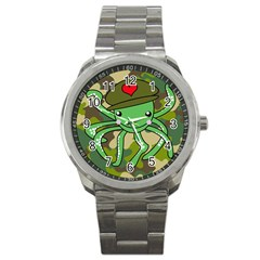 Octopus Army Ocean Marine Sea Sport Metal Watch