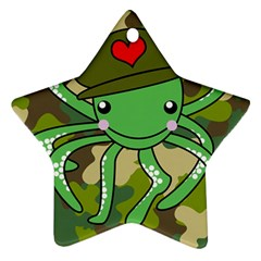 Octopus Army Ocean Marine Sea Star Ornament (two Sides)