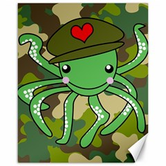 Octopus Army Ocean Marine Sea Canvas 16  X 20