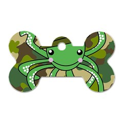 Octopus Army Ocean Marine Sea Dog Tag Bone (two Sides) by Nexatart