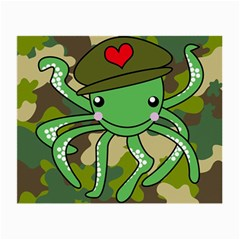 Octopus Army Ocean Marine Sea Small Glasses Cloth (2 Side)