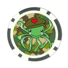 Octopus Army Ocean Marine Sea Poker Chip Card Guard