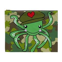 Octopus Army Ocean Marine Sea Cosmetic Bag (xl)