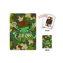 Octopus Army Ocean Marine Sea Playing Cards (mini)