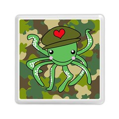 Octopus Army Ocean Marine Sea Memory Card Reader (square)