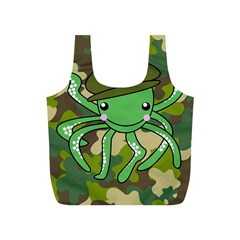 Octopus Army Ocean Marine Sea Full Print Recycle Bags (s)