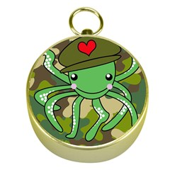 Octopus Army Ocean Marine Sea Gold Compasses