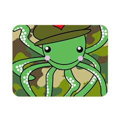 Octopus Army Ocean Marine Sea Double Sided Flano Blanket (mini)