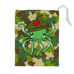 Octopus Army Ocean Marine Sea Drawstring Pouches (extra Large) by Nexatart